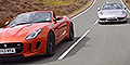 Autocar Video, Jaguar F-type vs Porsche 911 Cab