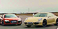 AutoExpress pitches 911 [991] Carrera 4S v Audi R8